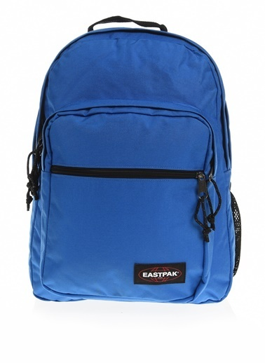 Eastpak Ius Iki Gözlü Marka Logolu Düz Renk Unisex Sırt Çantası Mavi